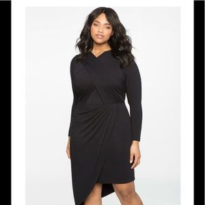 Eloquii Twisted Front Asymmetrical Dress